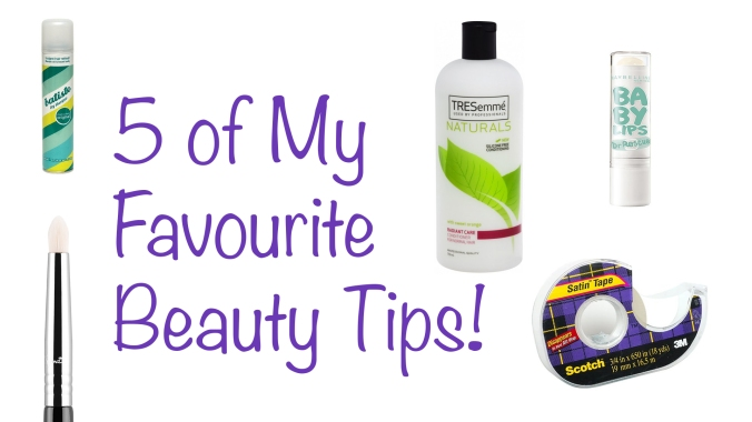 5 favourite beauty tips