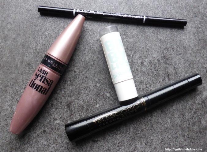 Maybelline-Lash-Sensational-Nyx-Microbrow-L'Oreal-Telescopic-Maybelline-Baby-Lips