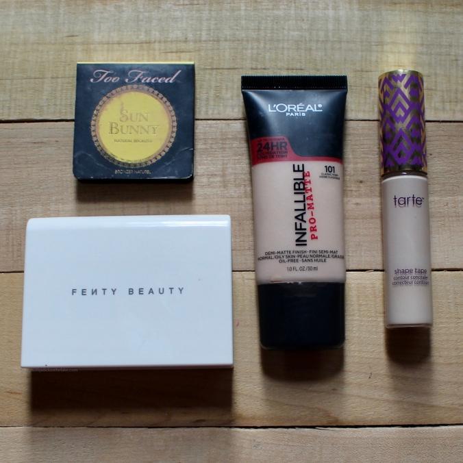 weekend get away makeup bag contents