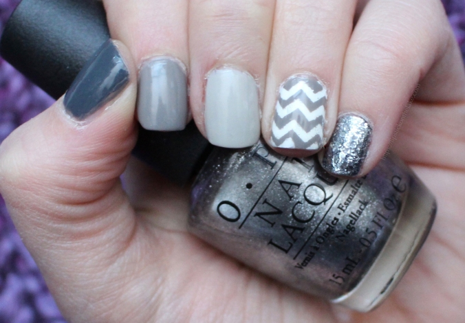 Grey Ombre Manicure