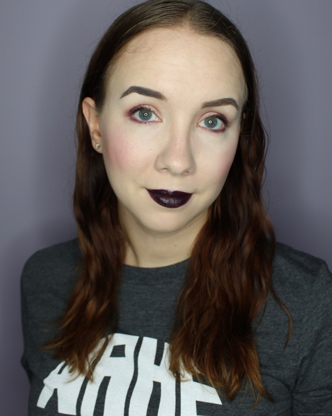 Makeup Revolution Constellation Palette Purple Monochromatic Makeup Look