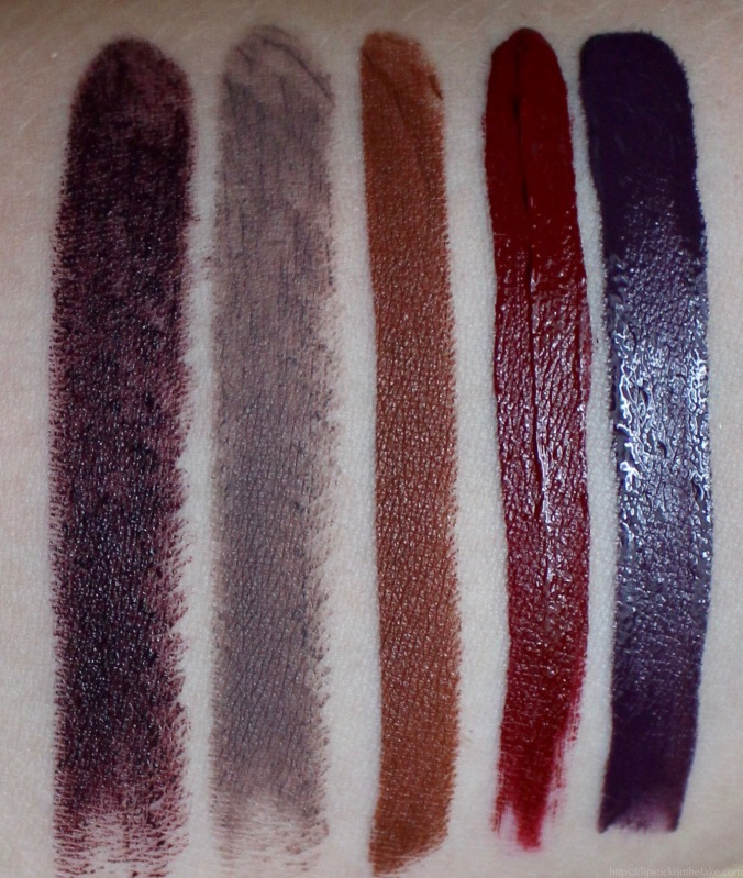 fall lipsticks swatches